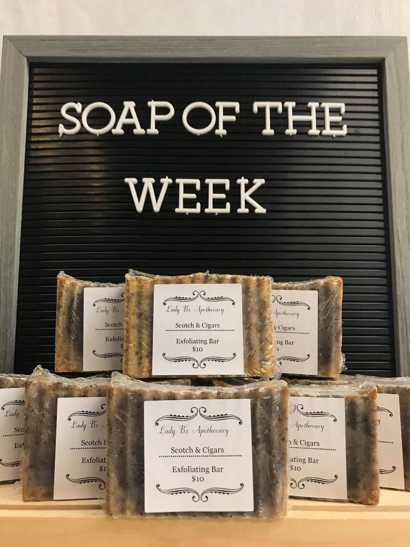Lady B's Apothecary is a project of Love. We sell local, handmade soaps and bath products created by the multi-talented Liz Goos.