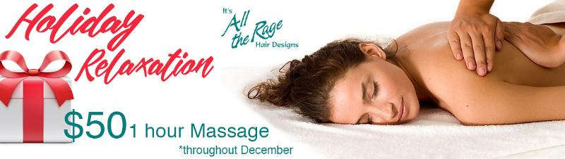 Holiday Massage specials now available