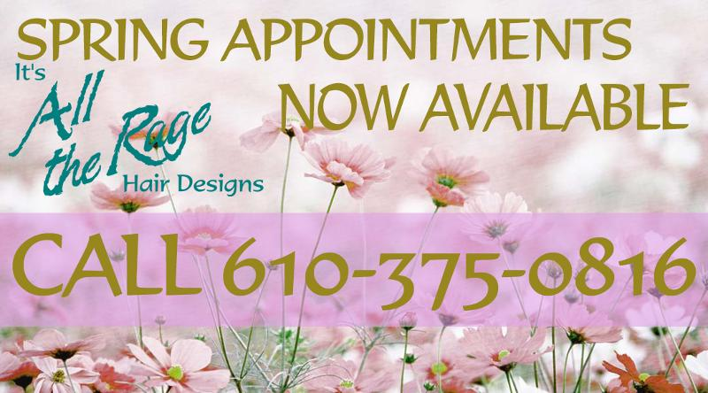 Spring Hair Salon Appointments