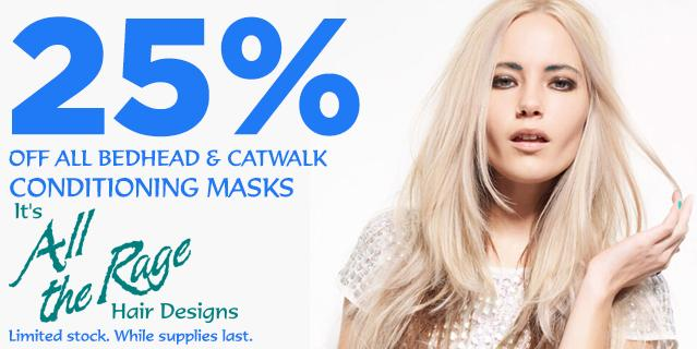 Sale on all Bedhead and Catwalk Conditioning Masks