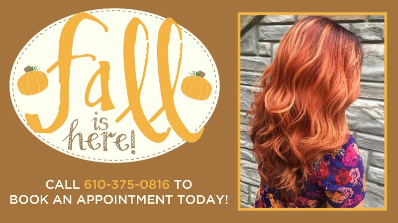 Book a Fall hairstyle at It's All The Rage Hair Designs in Wyomissing, PA