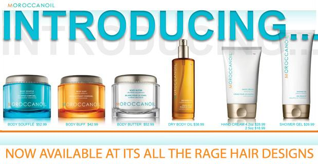 Introducing the NEW Moroccanoil Body Line sold exclusively at It's All The Rage Hair Designs